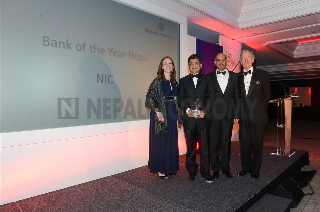 NIC Asia Bank bags 'Bank of the Year-Nepal 2013' award