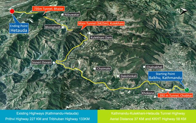 Kathmandu-Kulekhani-Hetauda tunnel road construction starts