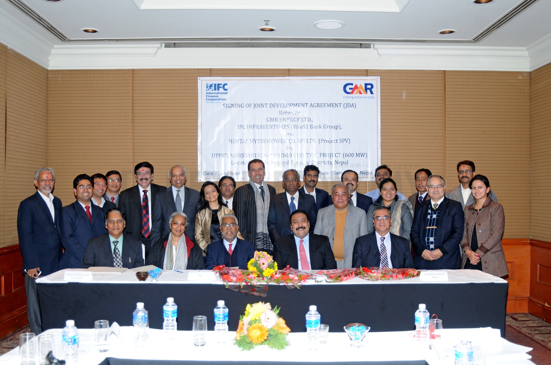 GMR signs joint development accord with IFC for hydropower development in Nepal