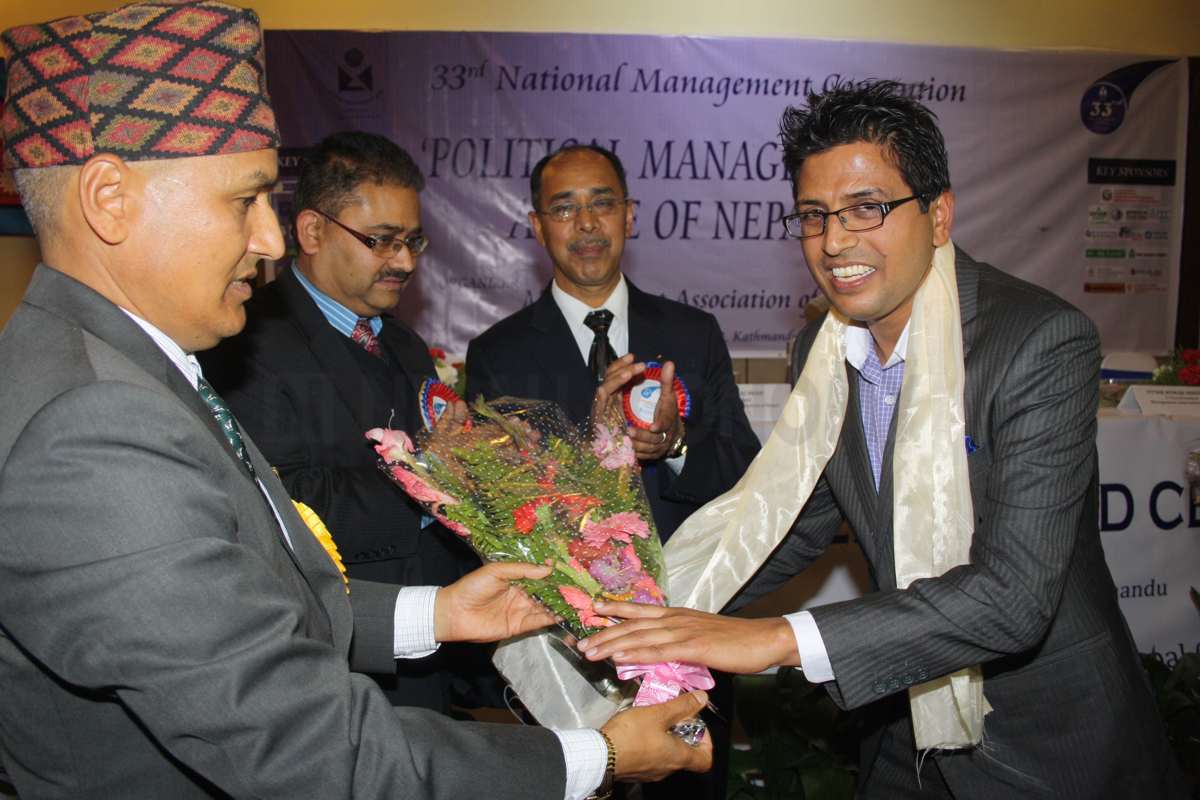 Aryal, Basnet, Baskota bag best managers award