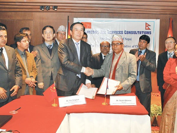 Nepal to be air transit route, accoding to revised ASA with China