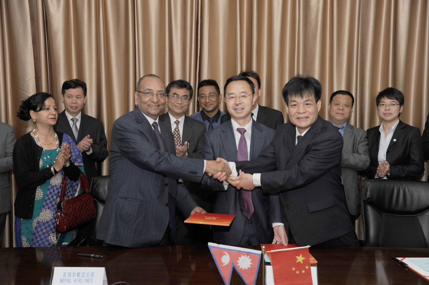 China hands over first plane to NAC