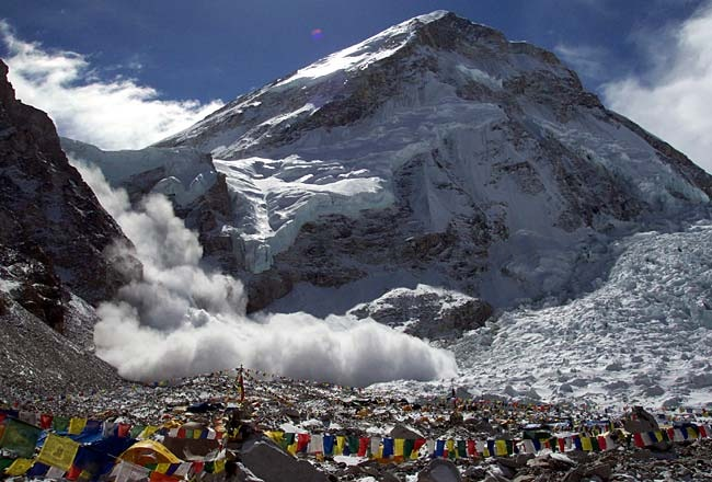Avalanche sweeps down Mt Everest, killing 12 Sherpa guides
