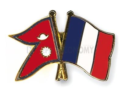 French delegation in Kathmandu