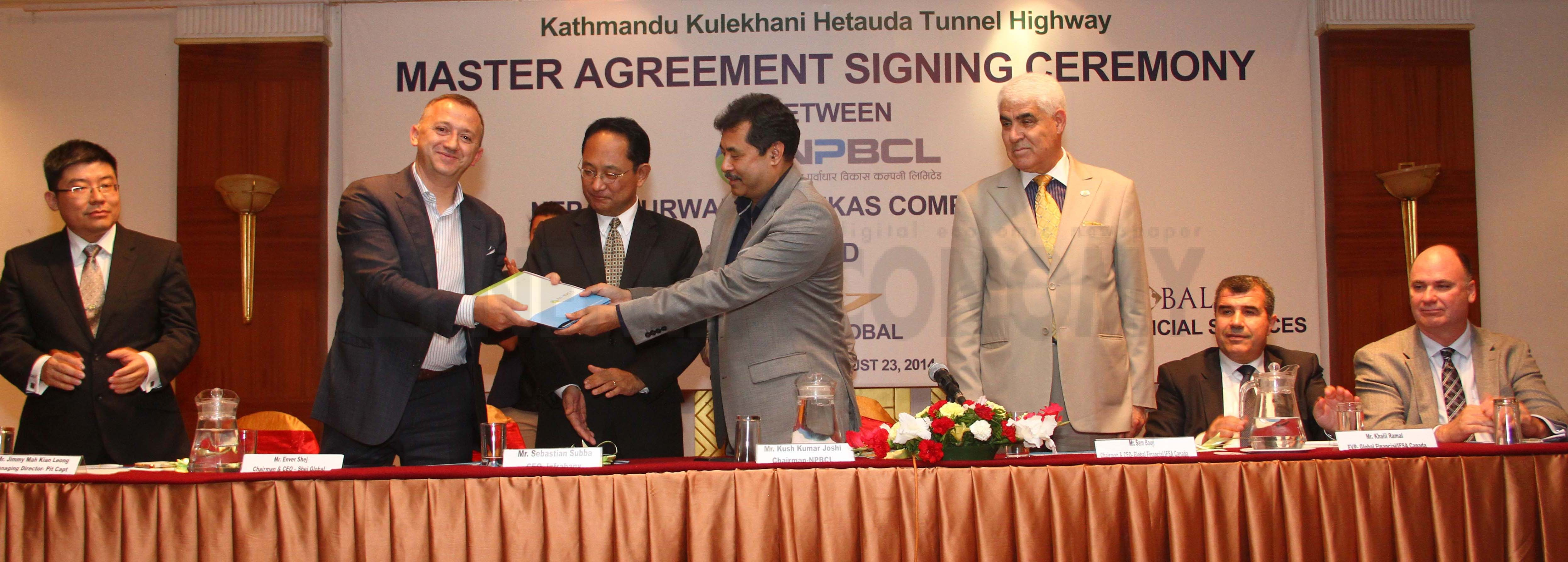 NPBCL, Canadian companies sign deal to finance tunnel highway