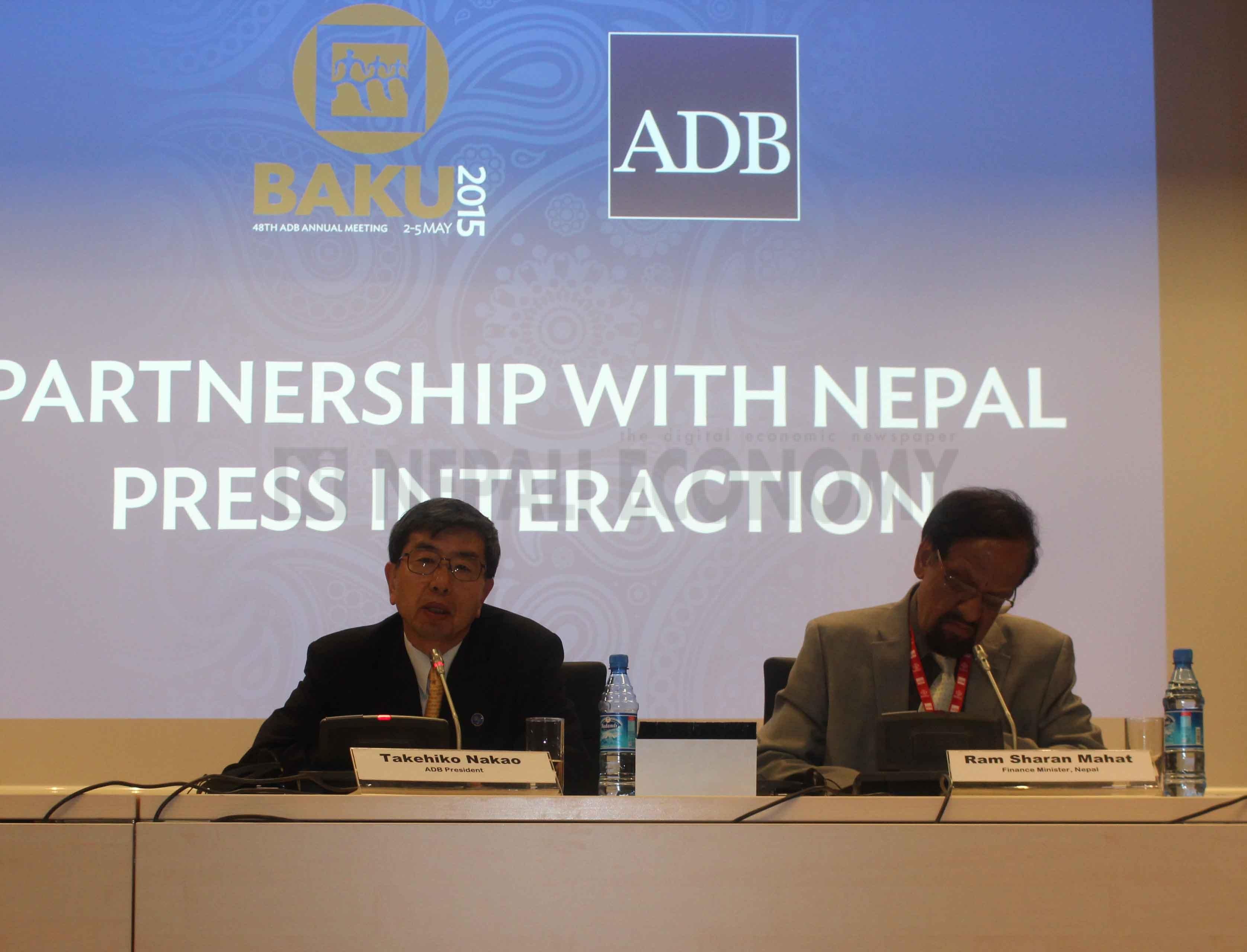 ADB hosts Partnership Forum for Nepal, Mahat presents bleak economic picture