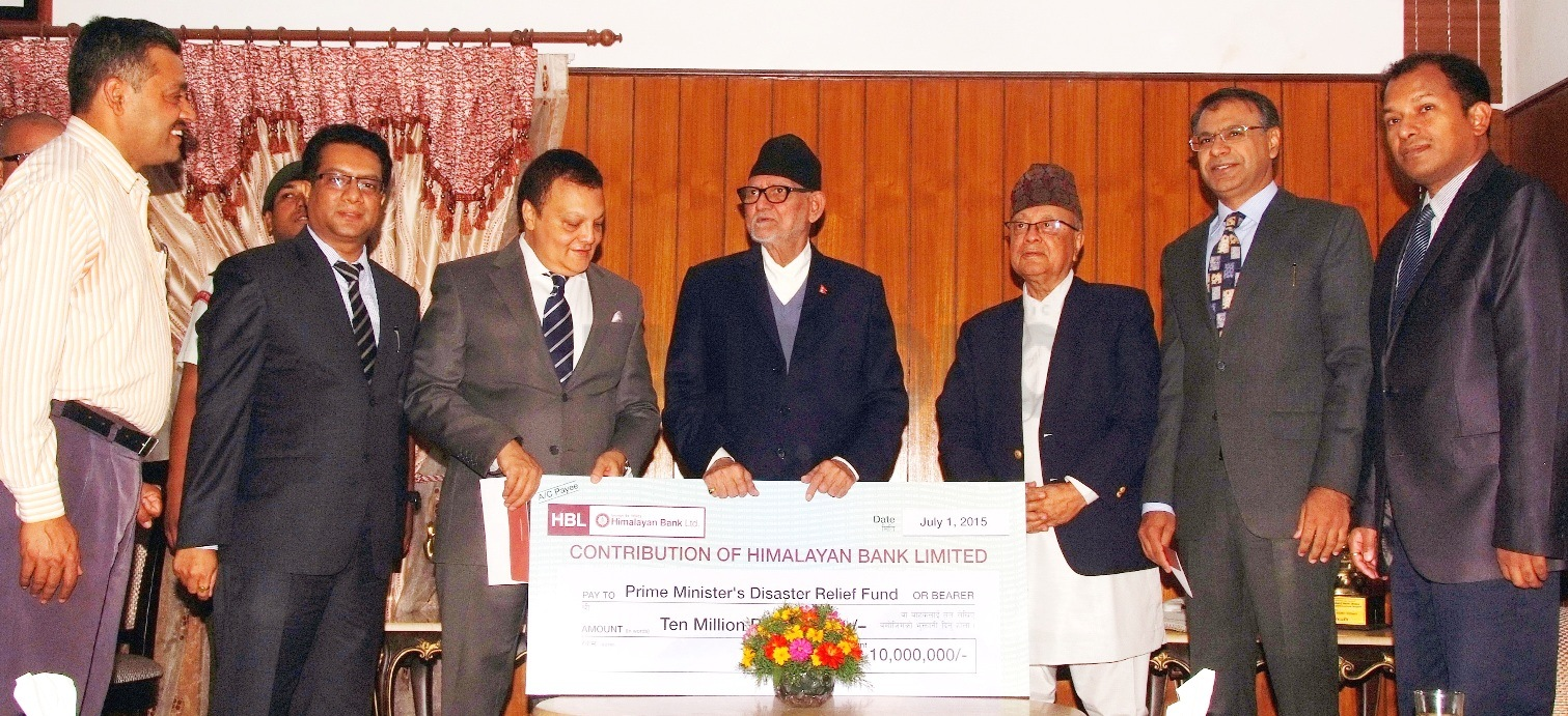 Himalayan Bank, Habib Bank each donate Rs 10 million